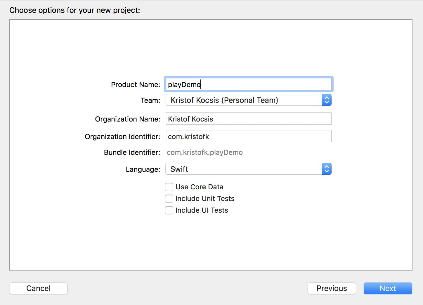 Creating Xcode project