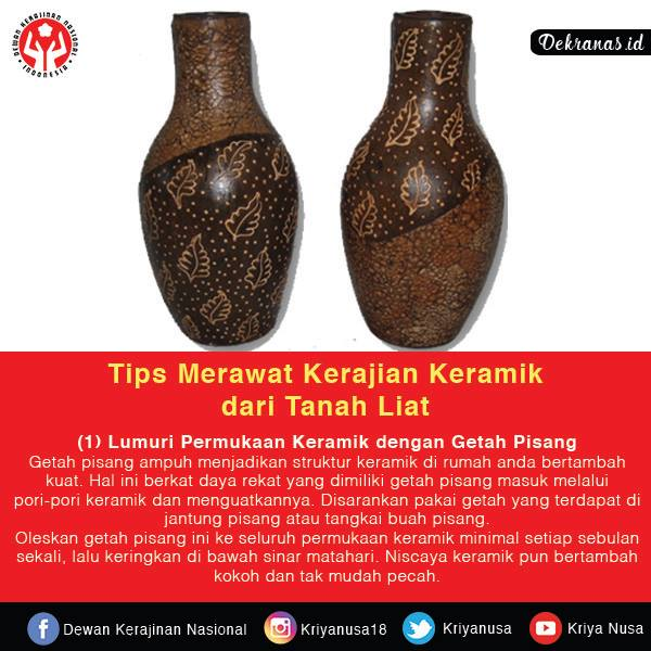 Tips Merawat Kerajinan Keramik dari Tanah Liat