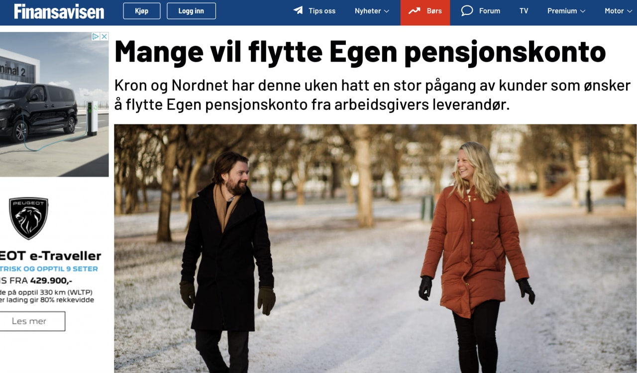 Mange flytter egen pensjonskonto til Kron