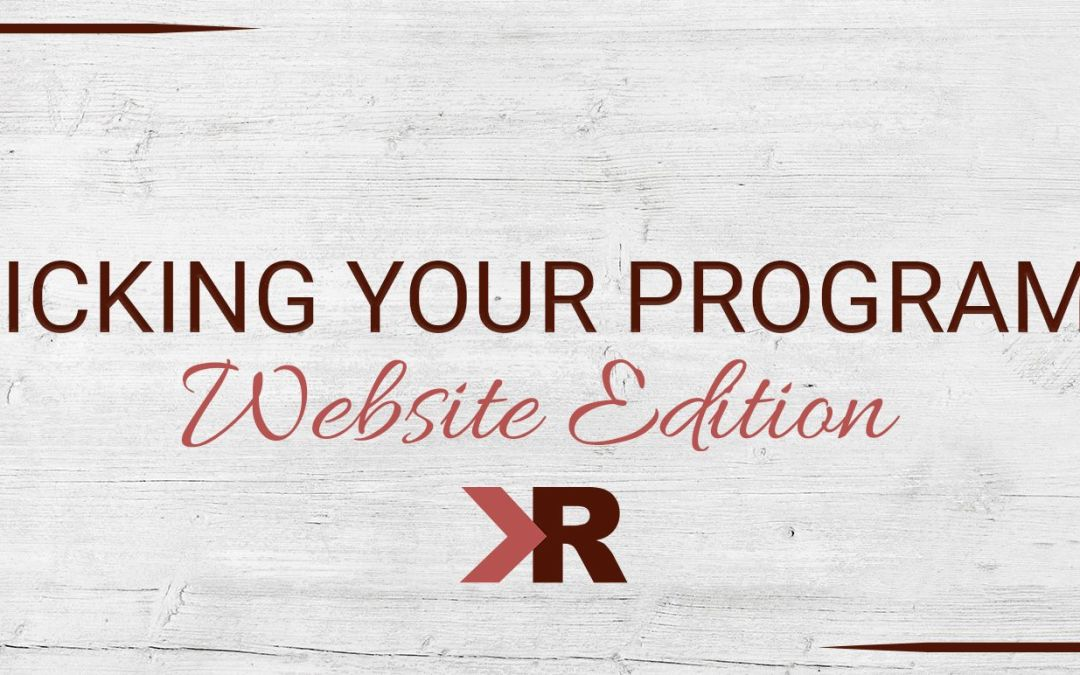 Picking Your Programs: Website Edition