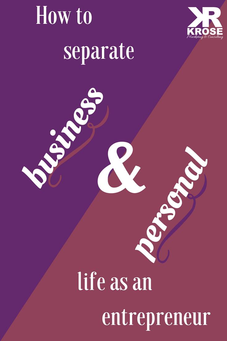 Business goals versus personal goals - KRose Marketing
