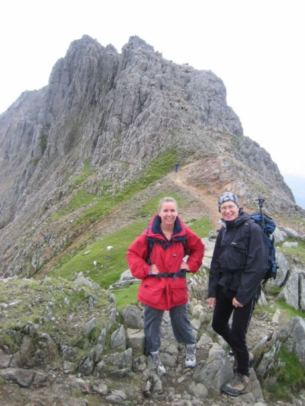 Bob & me at the start of Crib Goch