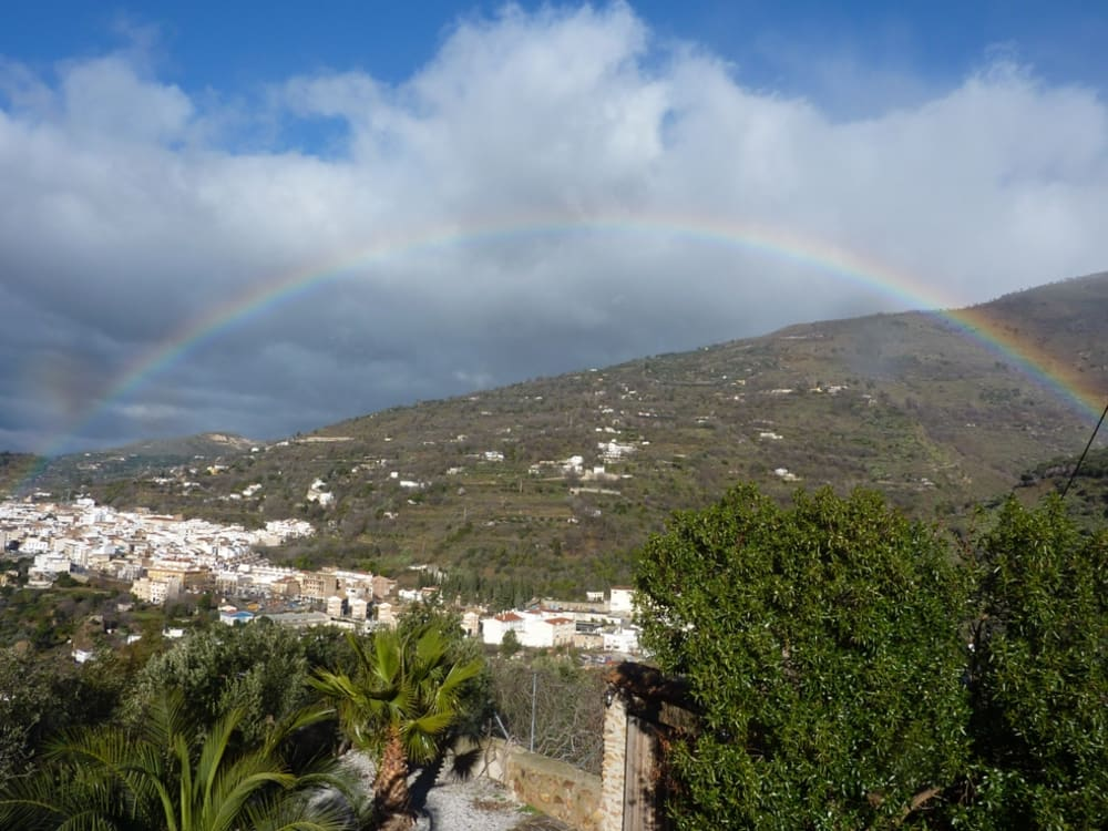 Rainbow over Lanjaron taken from our house