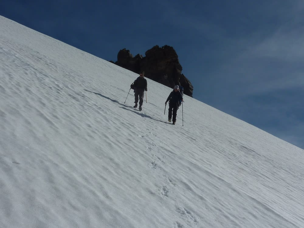 Heading straight down the headwall of Tajos de Los Machos. A much easier decent with snow
