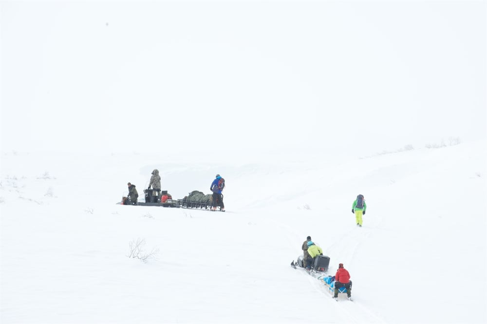 In to a whiteout. Photo courtesy of Martin Hartley