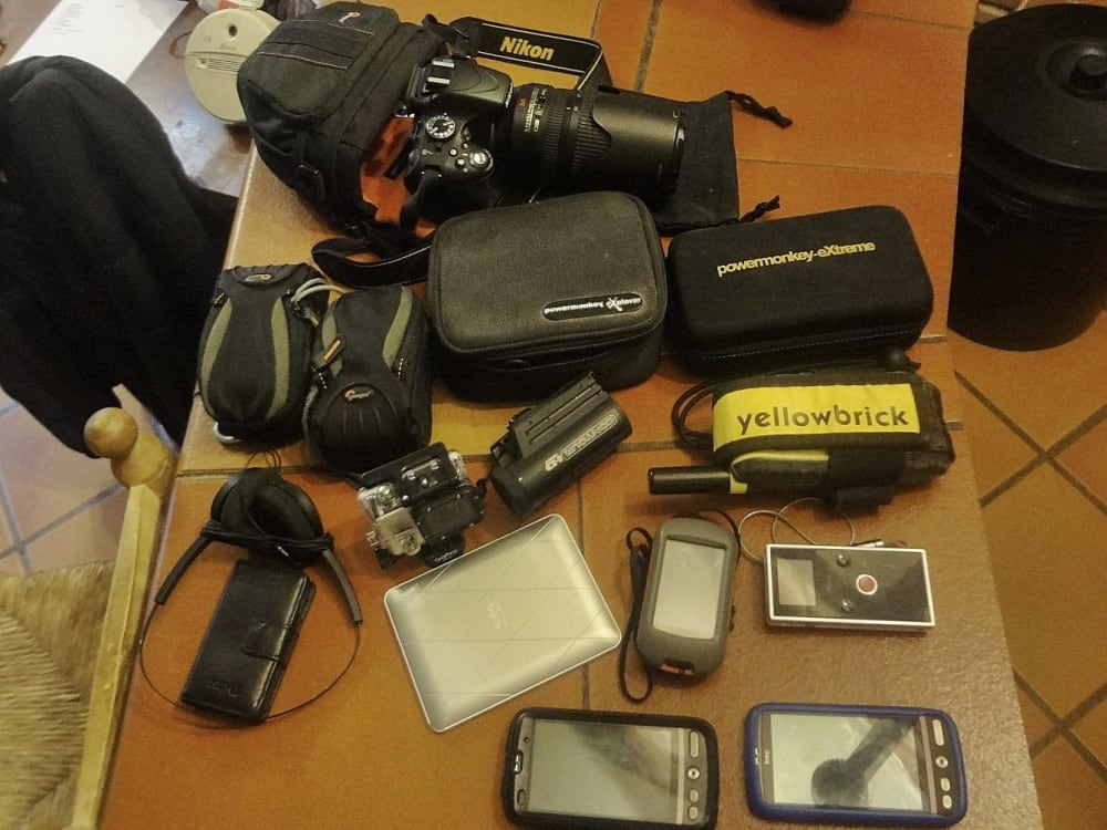 Some of the gadgets that came with us