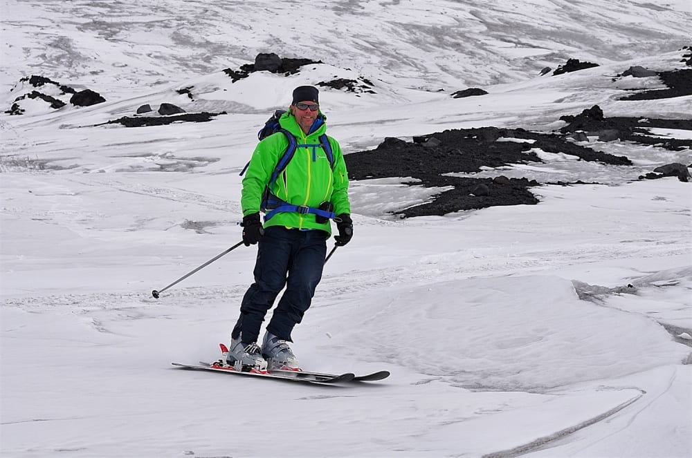 Happy Richard to be well enough to have a little ski