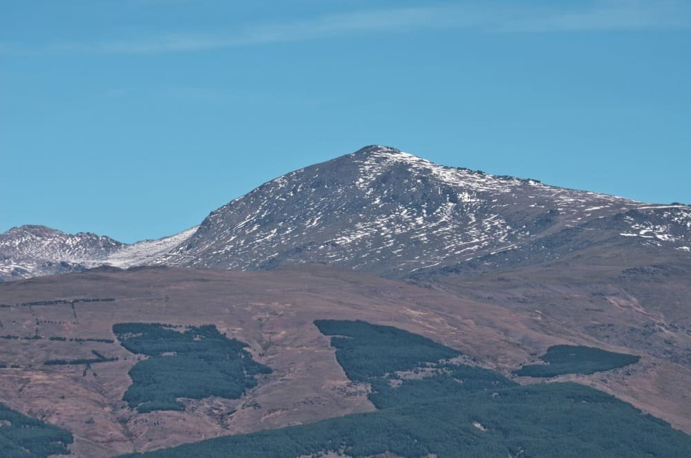Mulhacen, the highest peak in mainland Spain