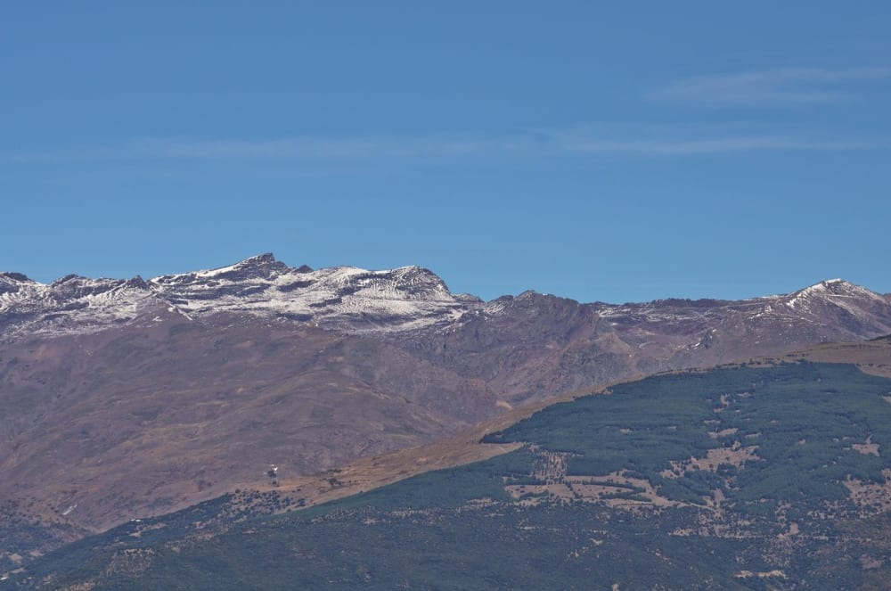 Veleta, 2nd highest mountain in the Sierra Nevada and other peaks and ridges