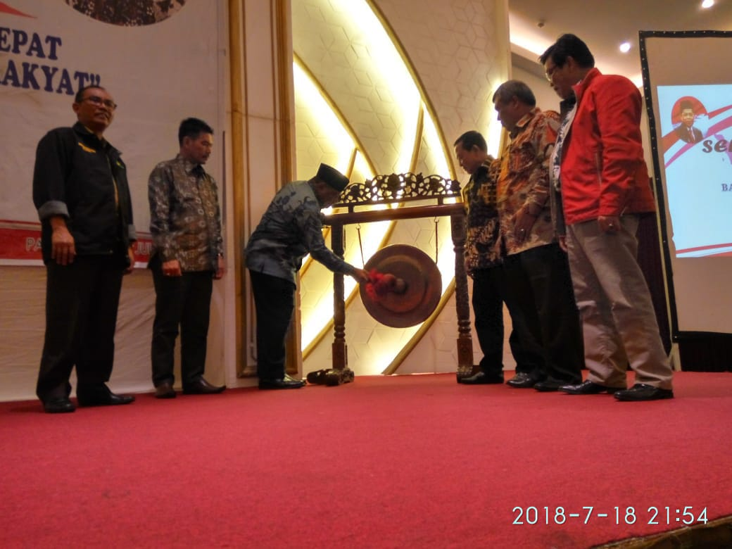 Kadis Sosial Provinsi Lampung Hadiri Rakortek Bantuan Sosial Wilayah 1 Palembang