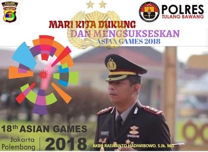 Polres Tulang Bawang Siap Dukung dan Sukseskan Asian Games 2018