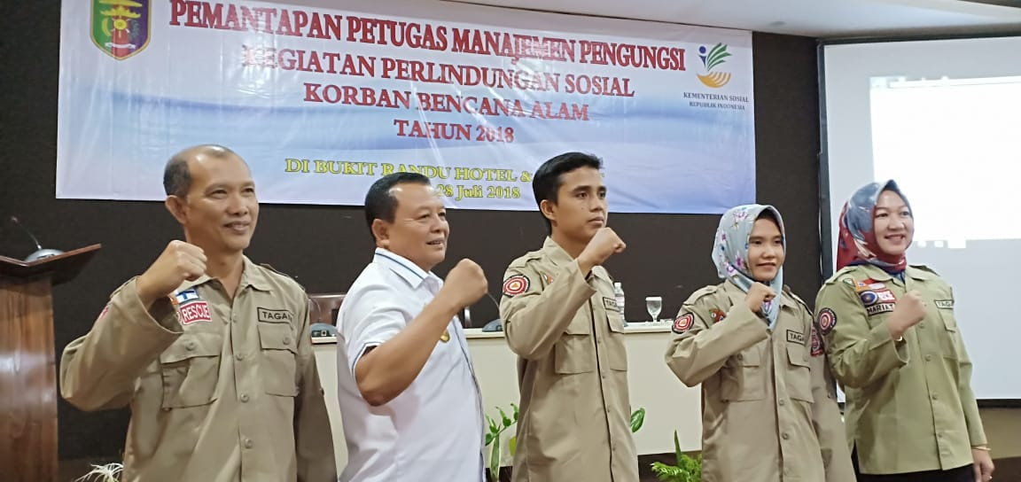 Kadinsos Provinsi Lampung, Sumarju Saeni Hadiri Pembukaan Kegiatan Pemantapan Petugas Manajemen Pengungsi