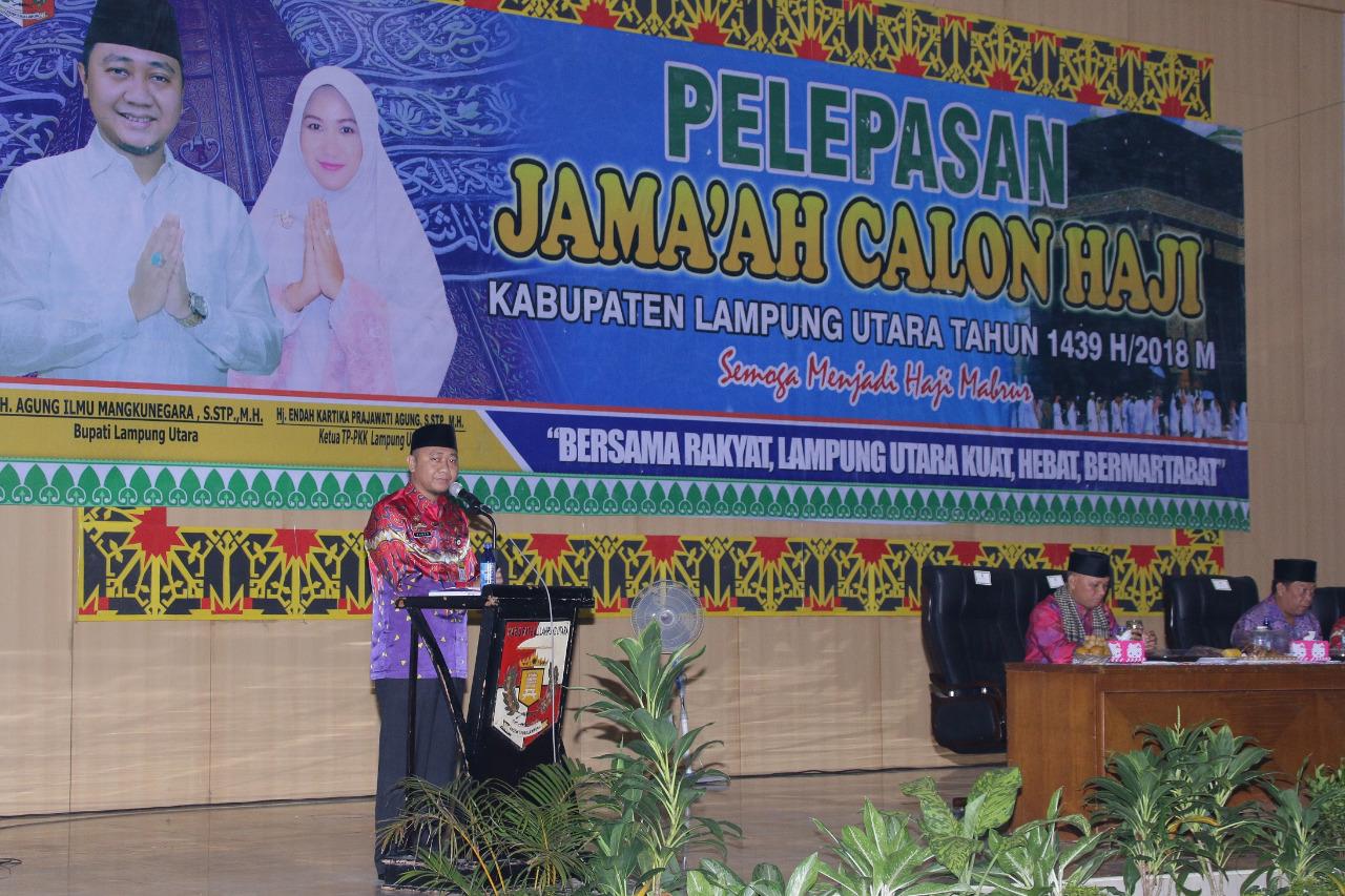 Lepas Jamaah Umroh, Bupati Agung Minta Do'a Untuk Kemakmuran Kabupaten Lampung Utara