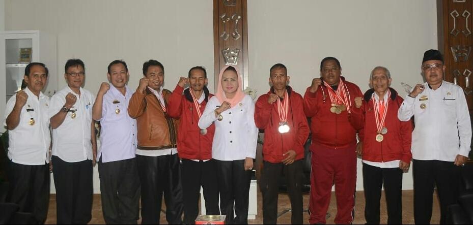 Bupati Winarti Sambut Baik Silaturahmi Atlet Master Berprestasi di Kejurnas