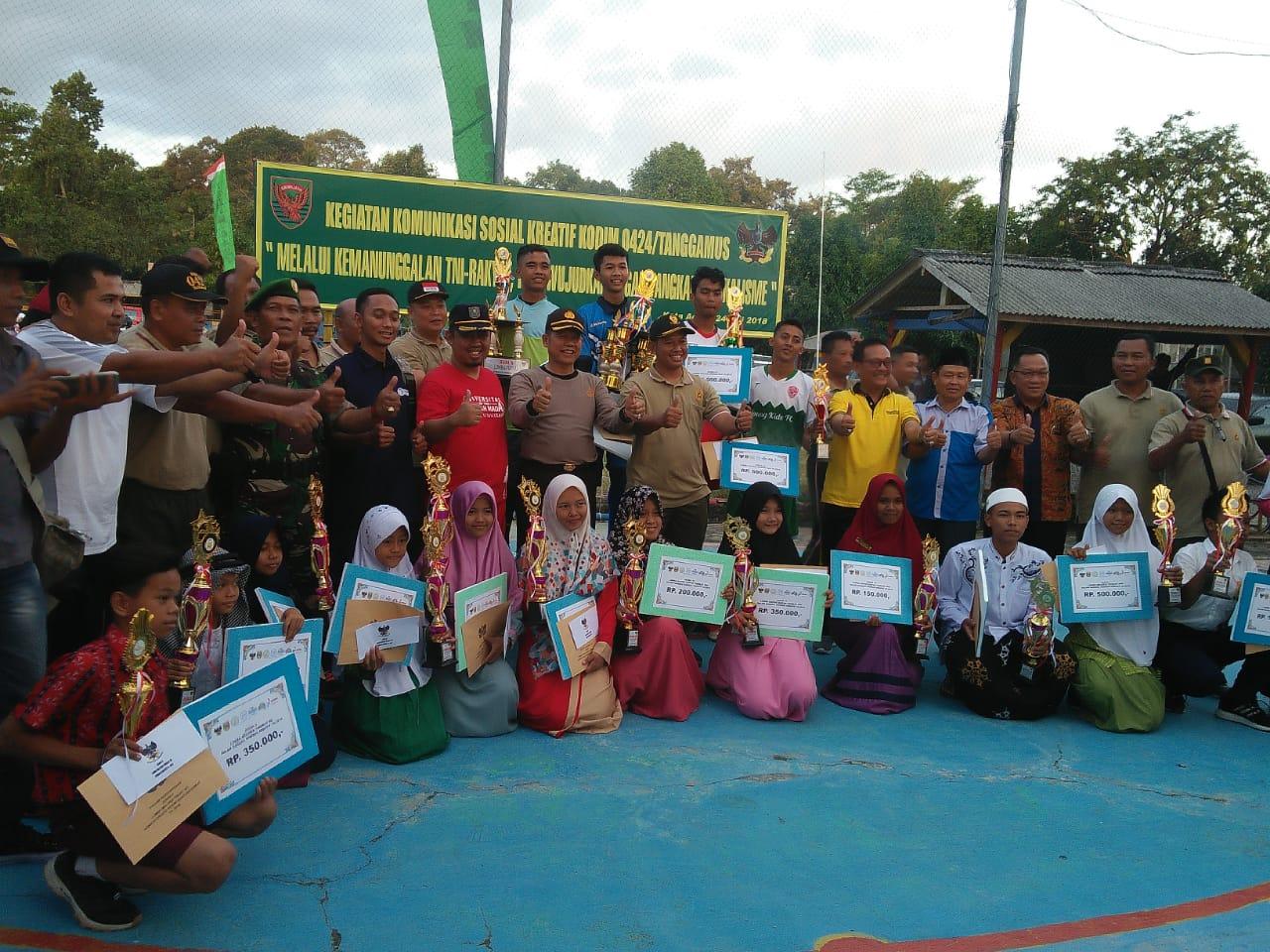 Event Turnamen Futsal Dandim Cup Tahun 2018, Tim Nankatsu B Raih Juara Pertama