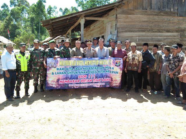 Jaga Kelestarian Hutan, Polres Tanggamus Gelar Kampanye Pecegahan Kebakaran