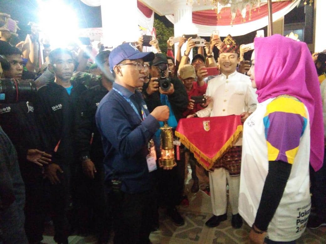 Bupati Winarti Sambut Rombongan Kirab Obor Asian Games 2018