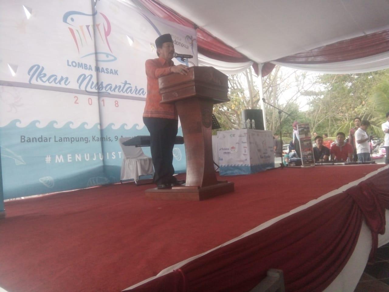 Herman HN, Ajak Masyarakat Kota Bandar Lampung Gemar Makan Ikan