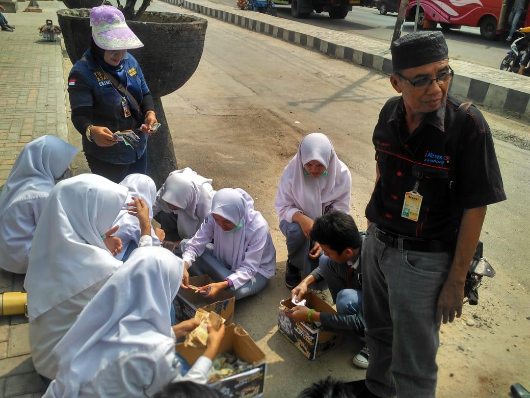 Bantuan Peduli Lombok Jurnalist dan Pelajar Lamteng Siap Dikirim ke Lokasi Pengungsian