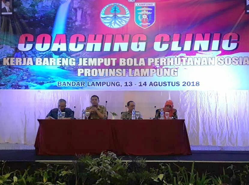 Dishut Provinsi Lampung Buka Coaching Clinic