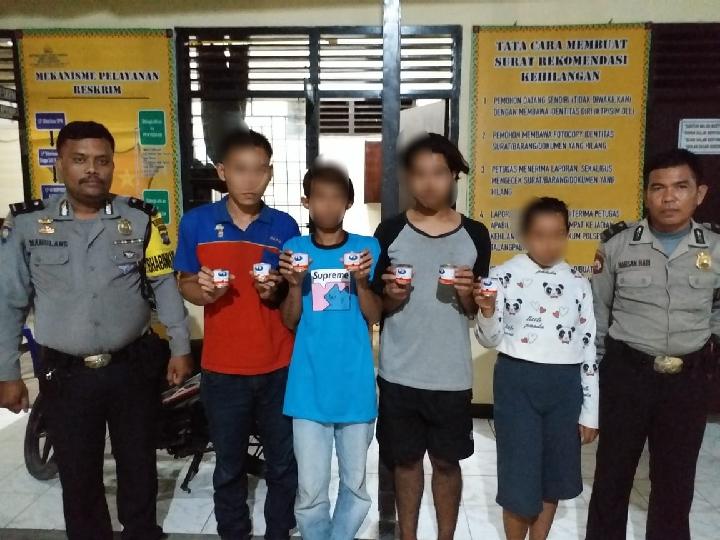 Empat Pemuda Pengisap Lem Diamankan Polisi