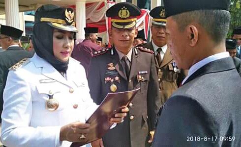 Bupati Winarti Pimpin Upacara HUT RI Ke-73 Tahun 2018