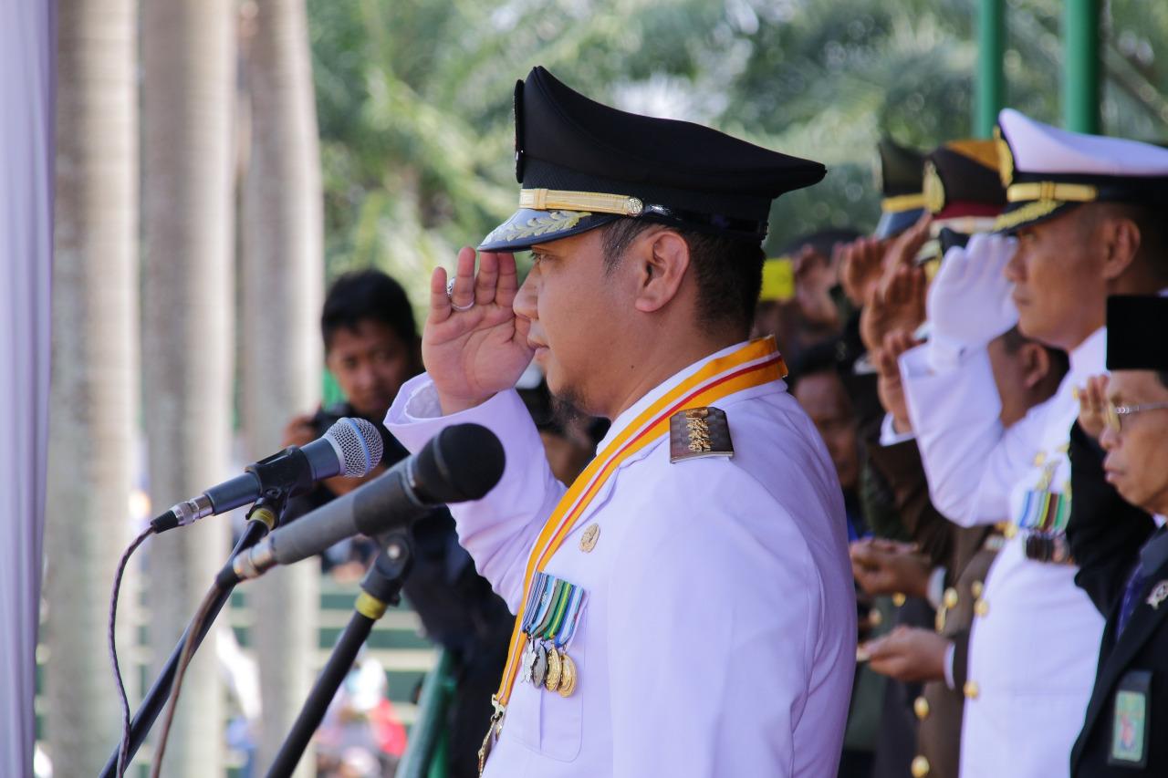 Bupati Agung Jadi Inspektur Upacara Peringatan HUT RI ke-73