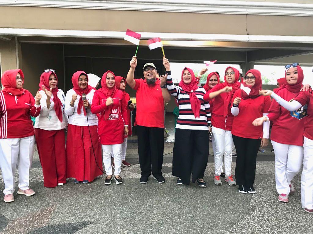 Bernuansa Merah Putih, FKPPI Lampung Meriahkan HUT RI Ke-73