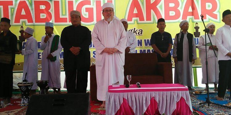 KH Tengku Zulkanain Mengisi Ceramah di Acara Tabligh Akbar Pondok Pesantren Wasilatul Huda