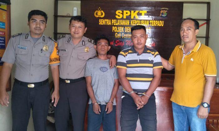 Polsek Dente Teladas Tangkap Dua Pelaku Pemilik Senpi dan Amunisi Ilegal