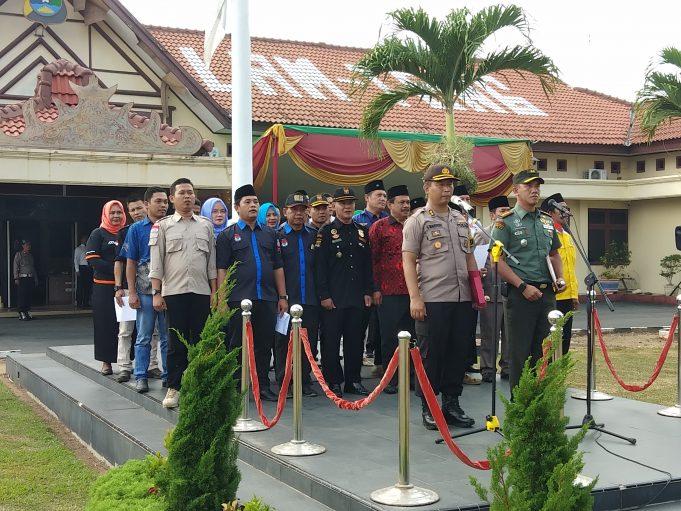 Polres Lampung Tengah Gelar Apel Pasukan Operasi Mantap Brata 2018