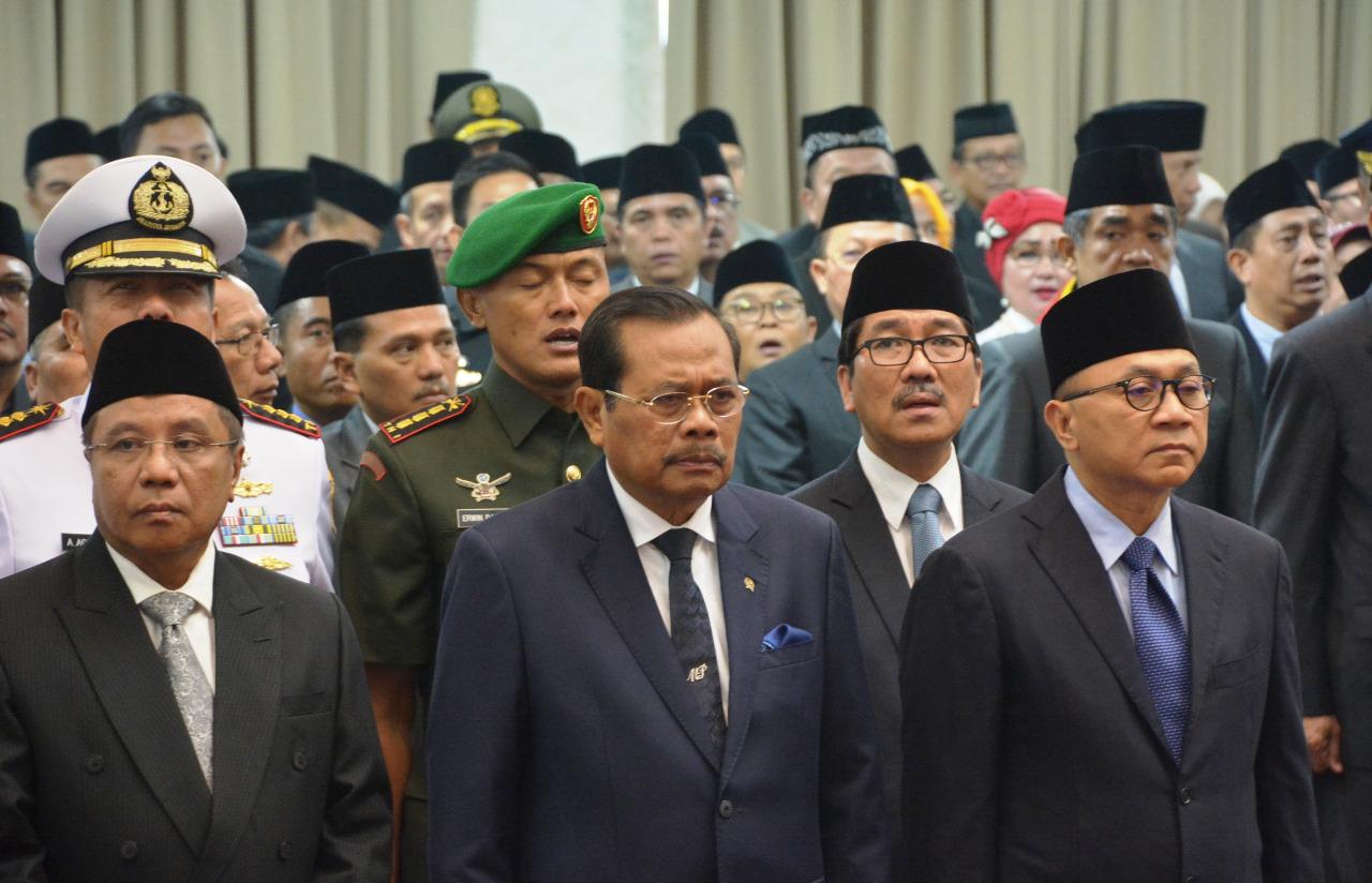 Danrem 043/Gatam Hadiri Pelantikan Bupati Kabupaten Tanggamus Dan Kabupaten Lampung Tengah
