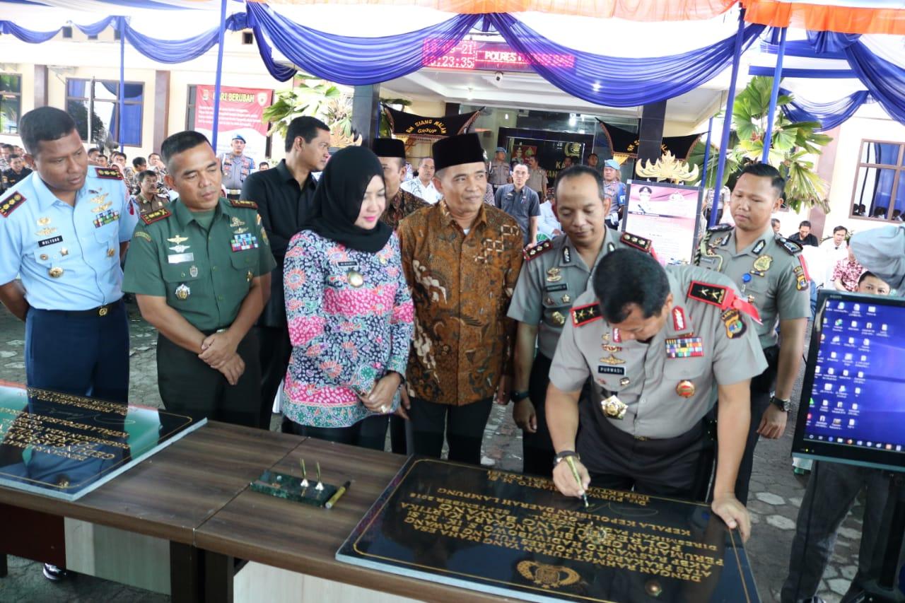Bupati Winarti Sambut kunjungn Perdana Kapolda Lampung Irjend. Drs. Purwadi Arianto