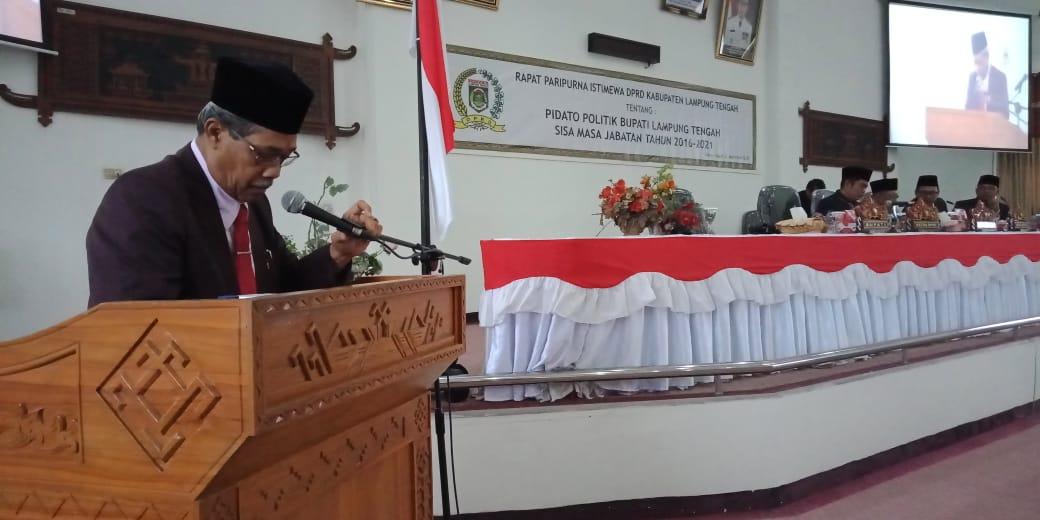 DPRD Lamteng Gelar Paripurna Pidato Perdana Bupati Loekman Djoyosoemarto