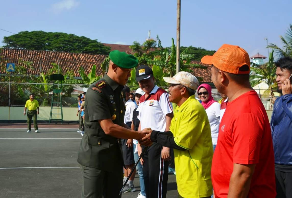 Danrem 043/Gatam Buka Tournamen Tenis Lapangan Dalam Rangka Sambut HUT TNI Ke-73 2018