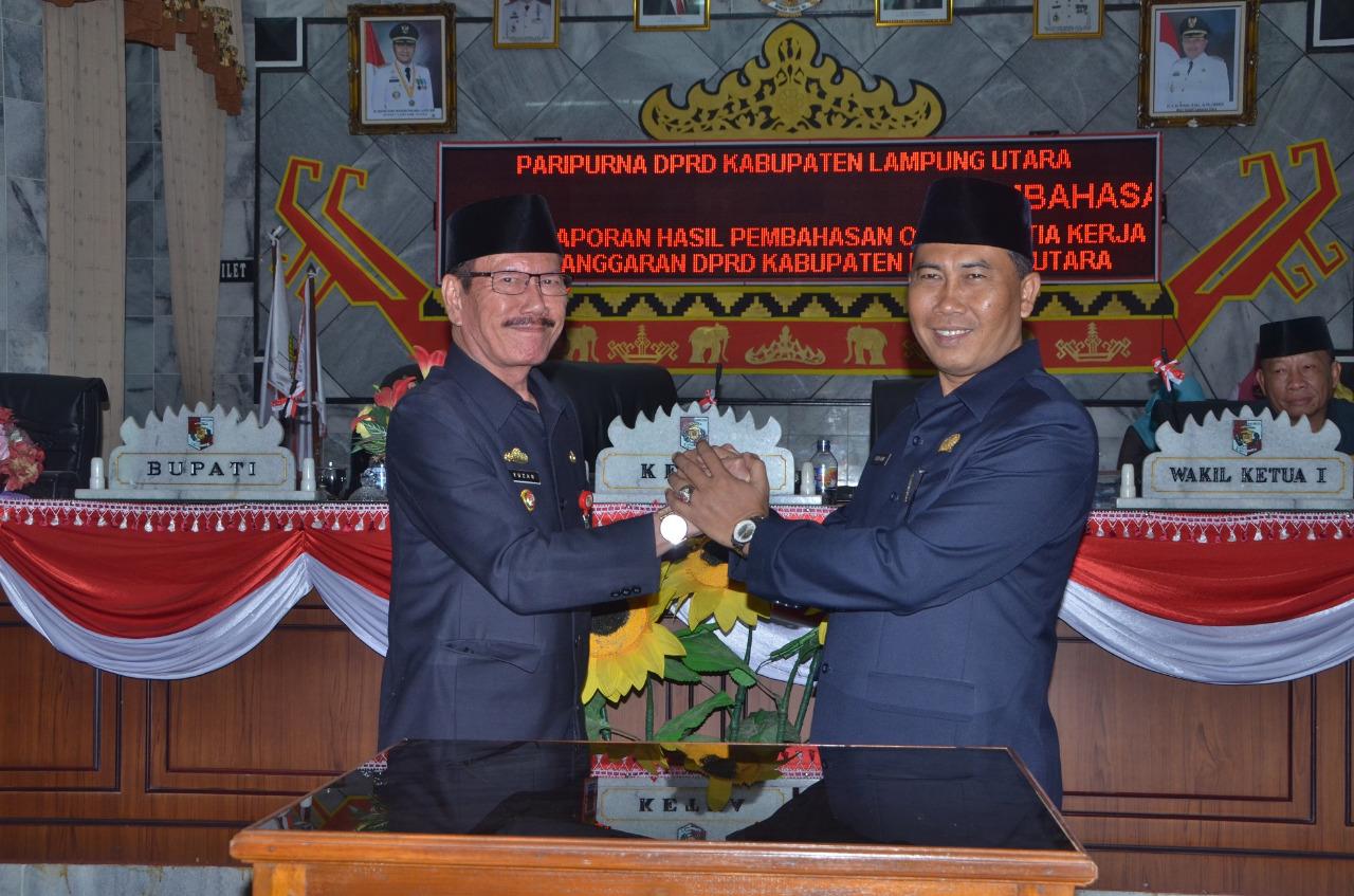 DPRD Lampung Utara Gelar Paripurna KUA dan PPAS 2018