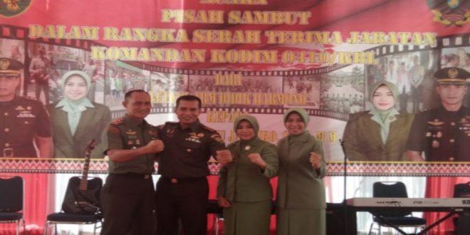 Pisah Sambut Dandim 0410/KBL Dari Letkol Arm Didik Harmono Kepada Letkol Arm Wahyu Jatmiko