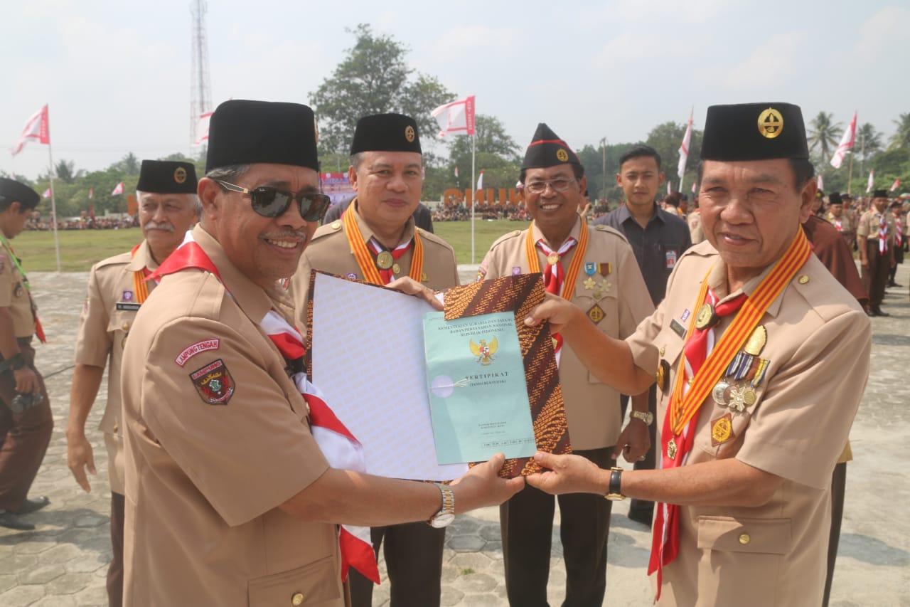 Pemkab Lampung Tengah Gelar Apel Besar Hari Pramuka ke-57 Tahun 2018