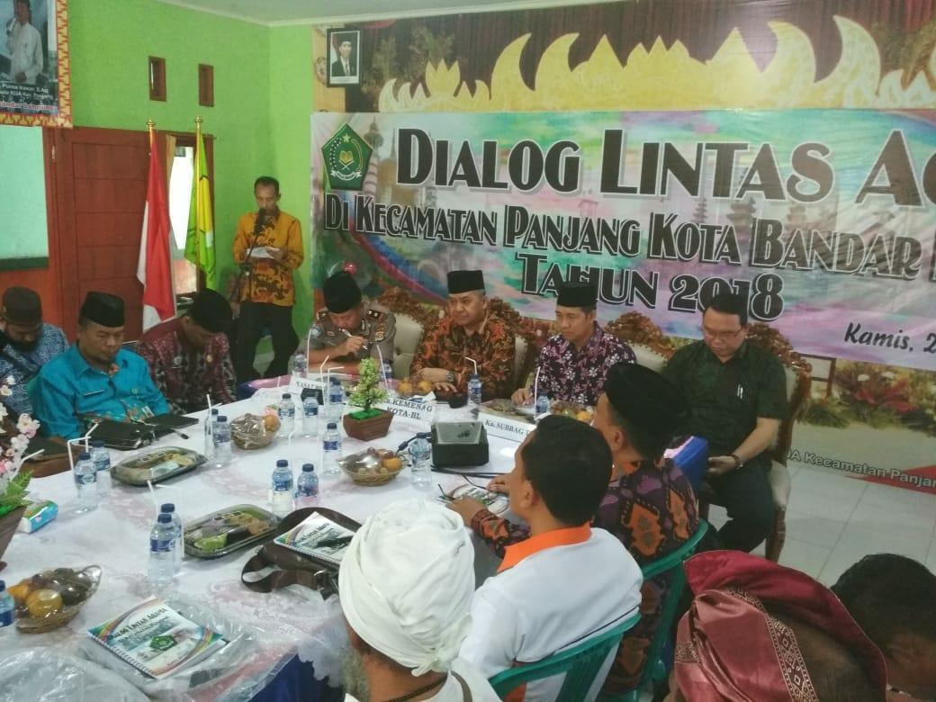 Kuatkan Kerukunan Agama, Kemenag Kota Bandar Lampung Gelar Dialog Lintas Agama