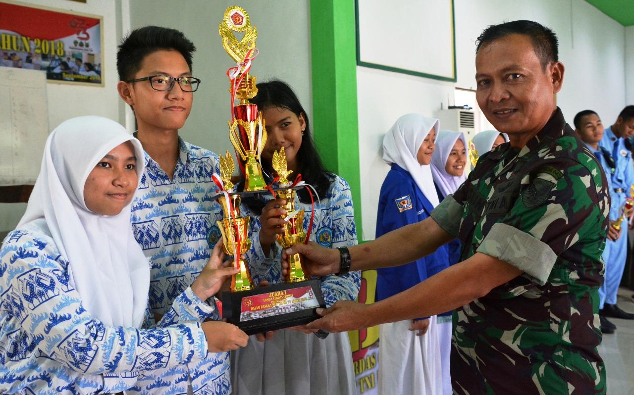 SMP Persit Kartika II Lampung Dan SMAN 2 Bandar Lampung Juara Lomba Cerdas Cermat HUT TNI Ke 73 TAHUN 2018