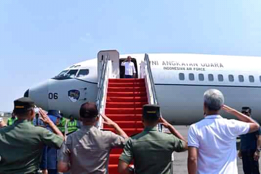 Presiden Jokowi Bertolak ke Kota Palu Tinjau Korban Gempa dan Tsunami