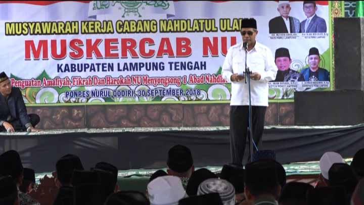 Loekman Minta PCNU Lampung Tengah Buat Program Yang Sejalan Dengan Pemerintah