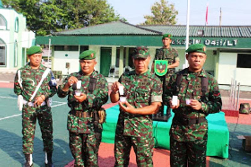 Dandim 0411/ LT, Sidak Tes Urine Prajurit dan PNS Kodim 0411/Lampung Tengah