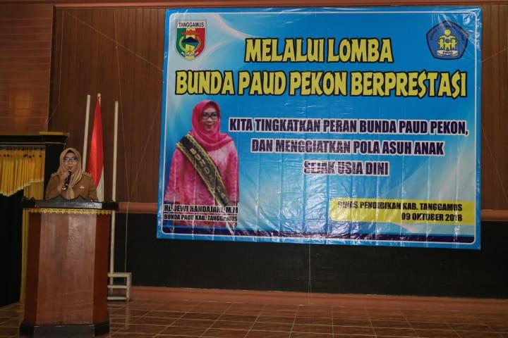 Bupati Tanggamus Hadiri Lomba Apresiasi Bunda PAUD Pekon Berprestasi Tingkat Kabupaten Tahun 2018
