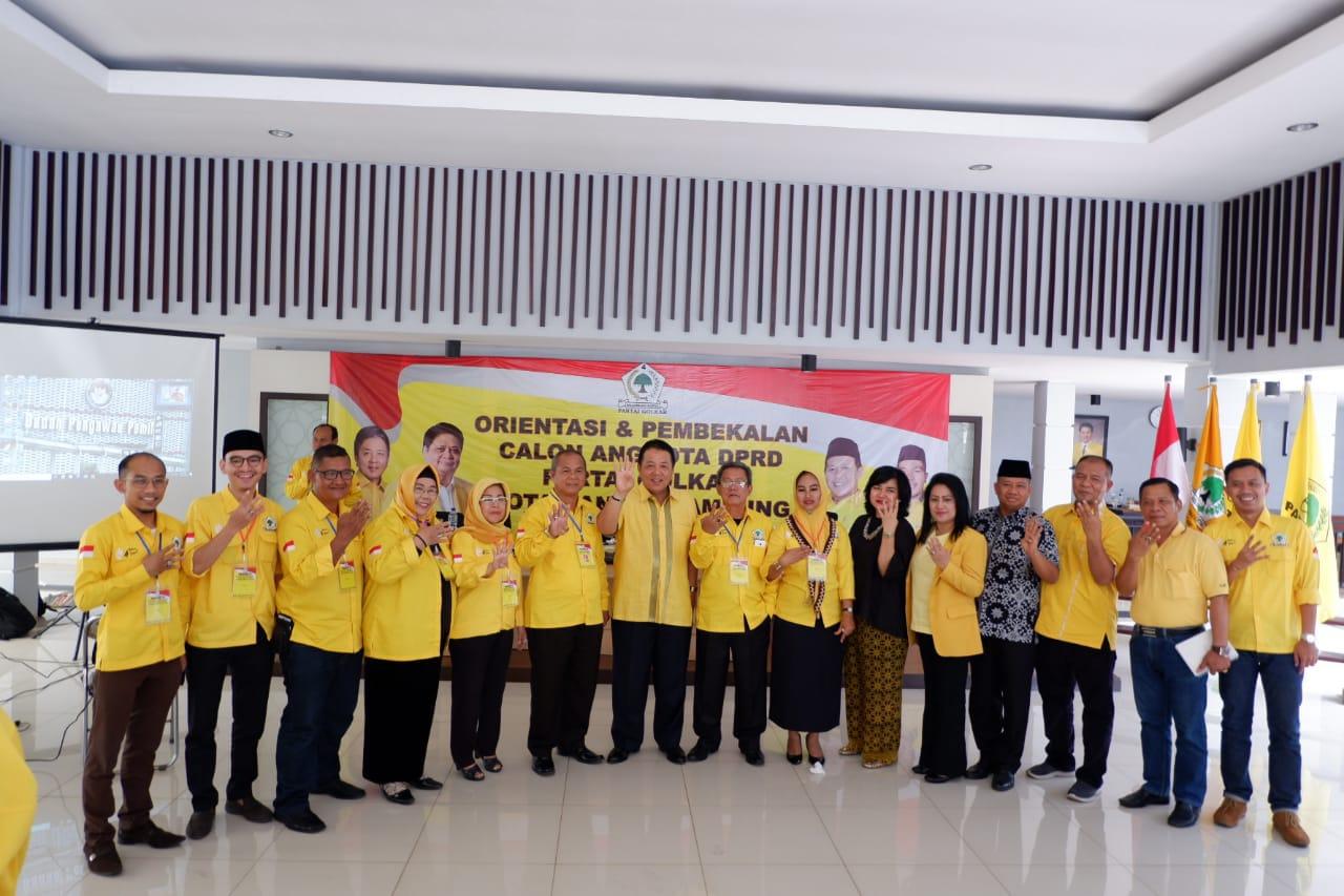 Gubernur Lampung Terpilih Resmi Membuka Acara Orientasi dan Pembekalan Caleg Golkar Kota Bandar Lampung