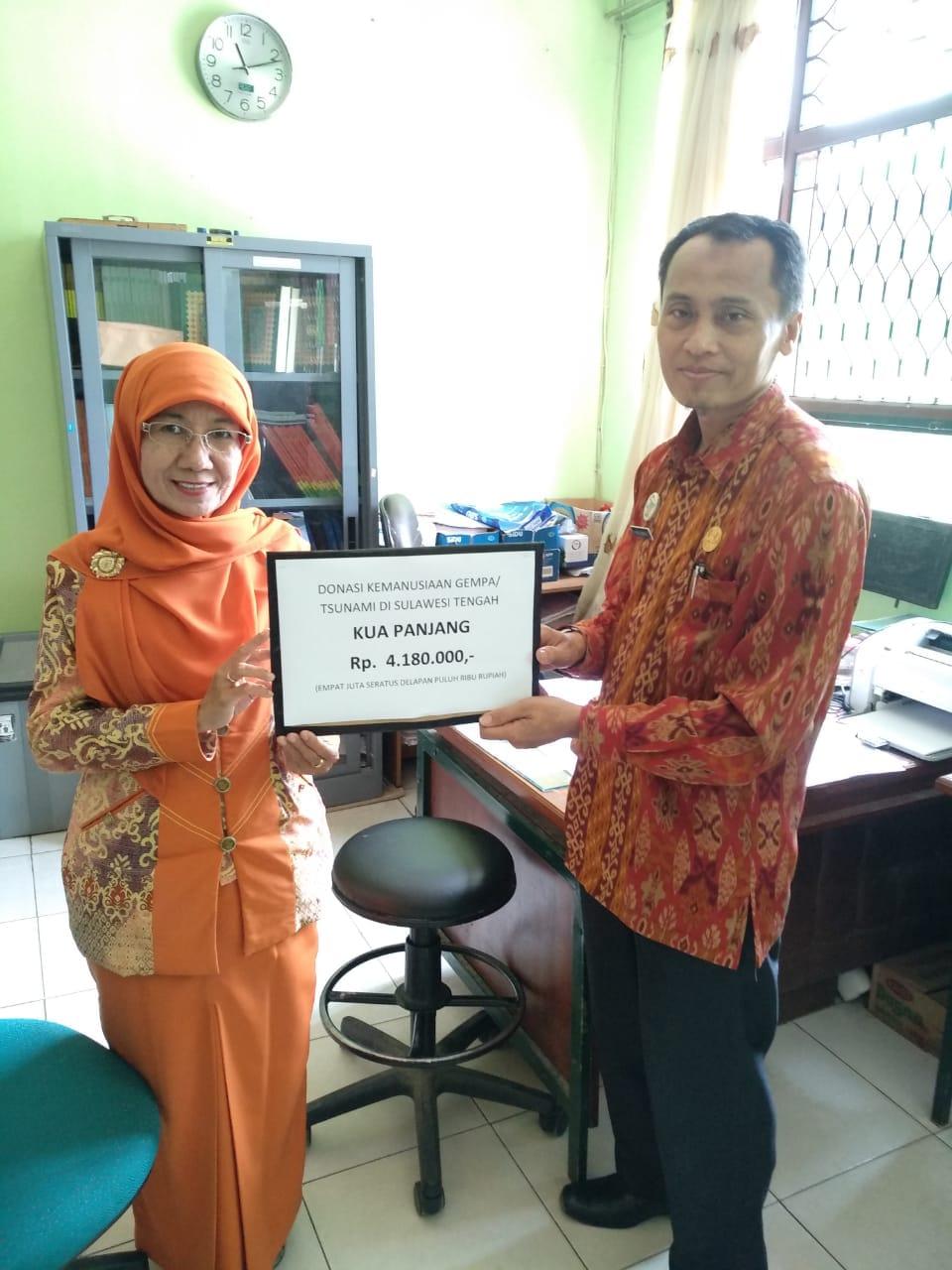 Pegawai KUA Panjang Dan Tokoh Masyarakat Galang Dana Peduli Gempa Dan Tsunami Palu - Donggala
