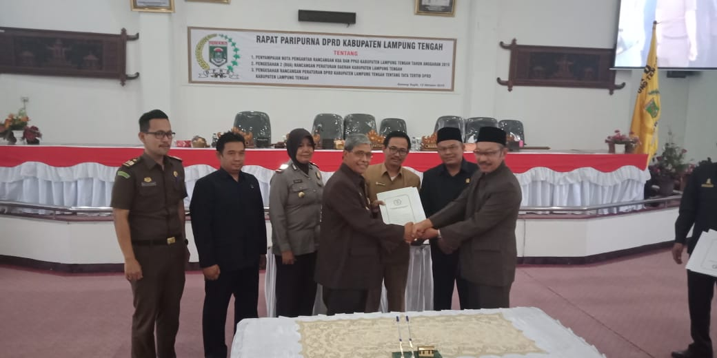 DPRD Lampung Tengah Gelar Paripurna Kebijakan Umum APBD 2019 dan PPAS
