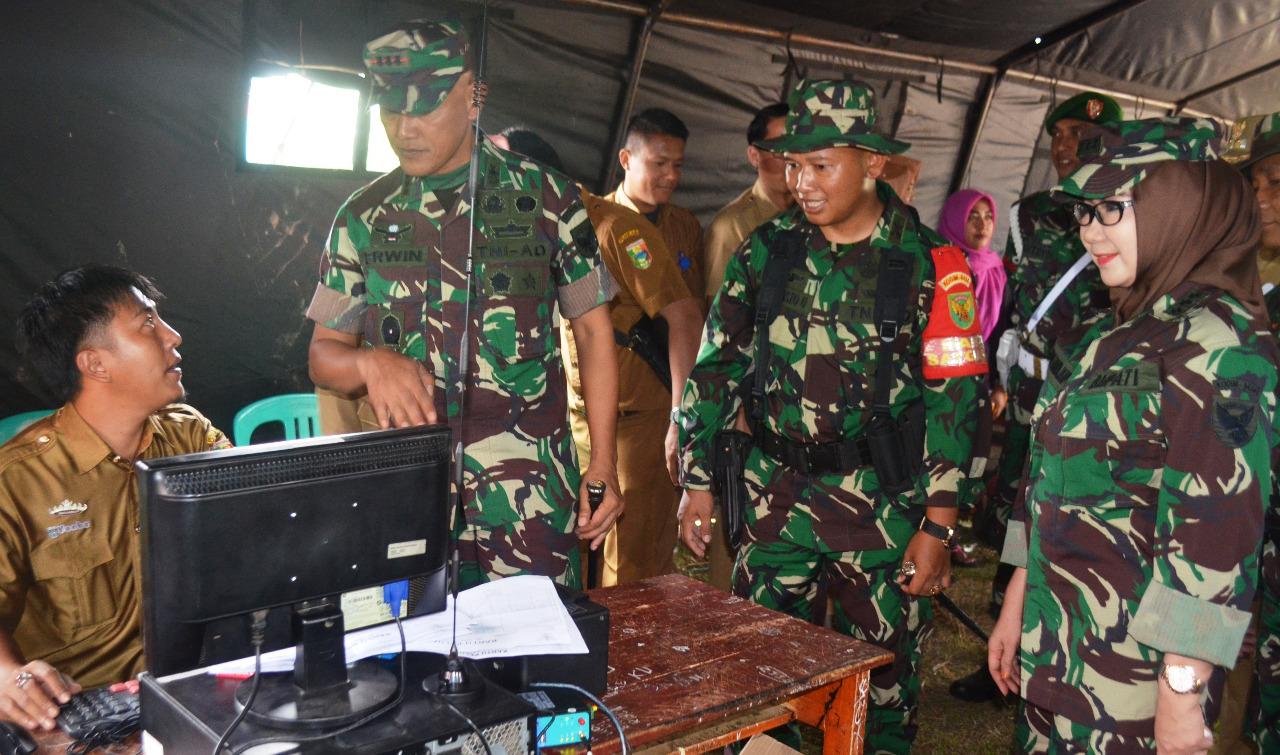 Danrem 043/Gatam Hadiri Pembukaan TMMD Ke 103 Tahun 2018 Di Kabupaten Tanggamus