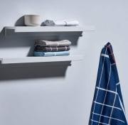 Kjøkkenhåndkle White Blue Rute