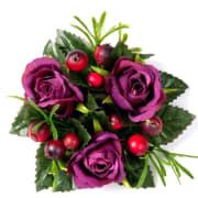 Lysmansjett med roser og bær